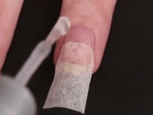 How to fix broken natural nail, how to fix split nails, fix broken nails with teabag, fix broken nail bed